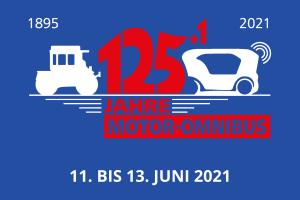 """Logo """"125+1 Jahre Motor-Omnibus"""""""